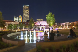 Guthrie Green @ night